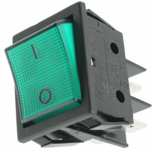 tefcold Refrigeration Dairy cabinet fridge  ON OFF ROCKER SWITCH GREEN 20A